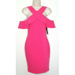 LULUS Neon Hot Pink Sexy Bodycon Dress 2536E1